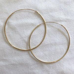 Nordstrom • Large Gold Hoop Earrings